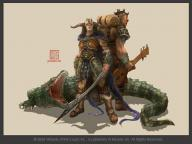 bard character creature crocodile fantasy female fighter lizard male sword // 776x583 // 31.3KB