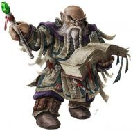 bald beard braid character dwarf fantasy glasses male spellbook tome wand white_hair wizard // 700x688 // 70.5KB