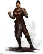 black_hair blood fantasy female fighter human monk plate // 736x931 // 59.4KB