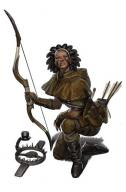archer black_hair bow character dark_skin fantasy human leather ranger // 460x700 // 58.7KB